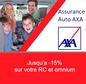 Assurance auto AXA: jusqu'à -15% sur la RC et l'omnium