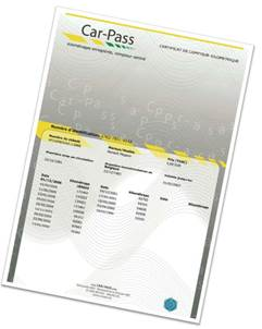 certificat Car-Pass