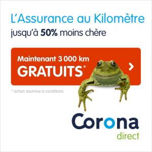 Corona assurances 3000km gratuits