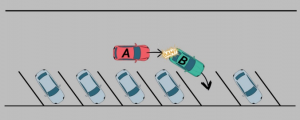 choc arrière parking